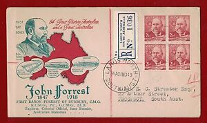 1949-Australia-John-Forrest-First-Day-Registered-Largs-North-clean