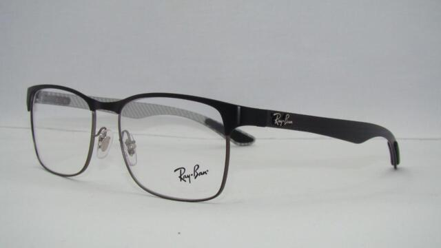 387b17c504 Ray Ban RB 8416 2916 Matte Black Carbon Tech ORG Case Eyeglasses Frames  Size 53 for sale online