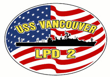 USS VANCOUVER LPD 2 Parking Sign US Navy Military USN