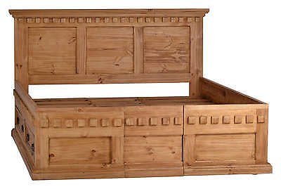 Mexico Bett mit Stauraum - Massivholz Möbel Pinie Honig (10832) Mexiko