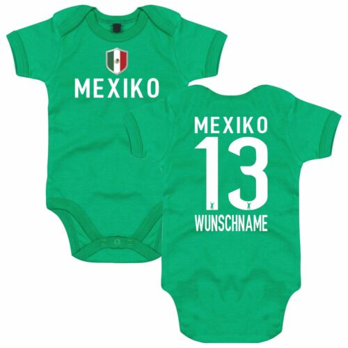 MEXIKO // MEXICO inkl Druck Name /& Nummer WM Trikot FanShirts4u Baby Body