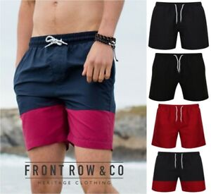 Front-Row-Board-Shorts-Bain-maille-double-Contraste-Shorts