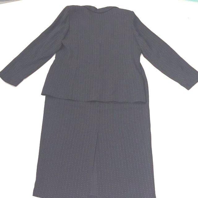 Women Multi color Perche Couture Striped   Long Sleeve Skirt  Suit sz 16