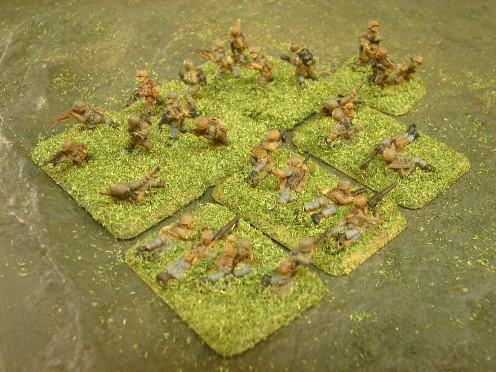 Painted Flames of War - German Glider Assault Plt with Flame Throwers