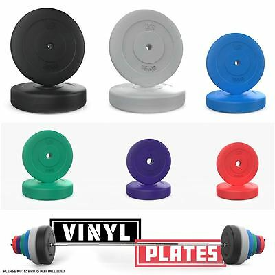 We R Sports Vinyl Weight Plates Cement Disc Plate Weight Lifting Fitness Workout