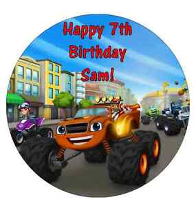 Blaze-And-The-Monster-Machines-Personalised-Birthday-Cake-Topper-Edible-7-5-034