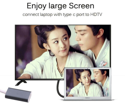 Type C to HDMI Video Cable Adapter for Samsung Galaxy S8 Note 8 to TV Projector