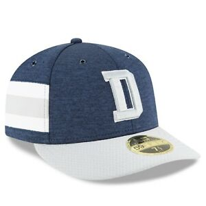 DALLAS COWBOYS NFL NEW ERA 59FIFTY LOW PROFILE HOME SIDELINE FITTED ... 05a6b509d