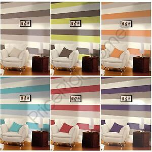 Image Is Loading STRIPE WALLPAPER NEW FEATURE WALL LIME CHOCOLATE GREY  Part 95