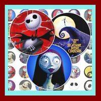 100 Precut Nightmare Before Christmas Bottle Cap Images Variety 1 Inch Discs