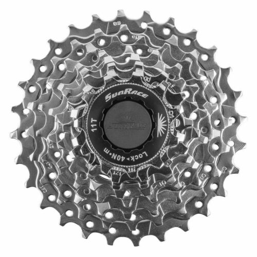 Sunrace CSR86 8-Speed Nickel Plated Bicycle Cassette//11//28T