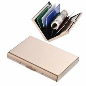 Kleidung & Accessoires Rfid Slim Metal Credit Card Holder Wallet For Ladies And Men,credit Card Caes Fo Hochwertige Materialien