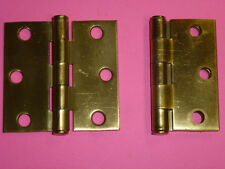Stanley 2-1/2  X 2-1/2  DOOR HINGE PAIR BRASS PLATED TRANSOM BUTTS -NOS! Stanley 2-1/2  X 2-1/2  DOOR HINGE PAIR BRASS PLATED TRANSOM BUTTS & 1 NOS Stanley Butterfly Refrigerator Door Hinge | eBay