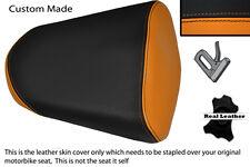 ORANGE & BLACK CUSTOM FITS HONDA CBR 125 R 11-13 PASSENGER REAR SEAT COVER