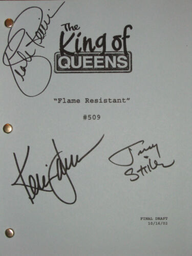 The King Of Queens Signed TV Script X3 Kevin James Jerry Stiller Remini reprint