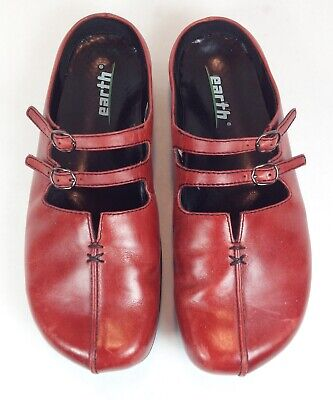 Red clogs with leather upper heel 11 K213001p ROSSO