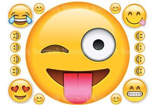 Image Is Loading EMOJI SMILEY FACE IPHONE TABLET ICONS ROUND 8