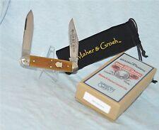 "RARE MAHER & GROSH HONEY BONE MOOSE PATTERN KNIFE GEC ""WITH ORIGINAL CASE /BOX"
