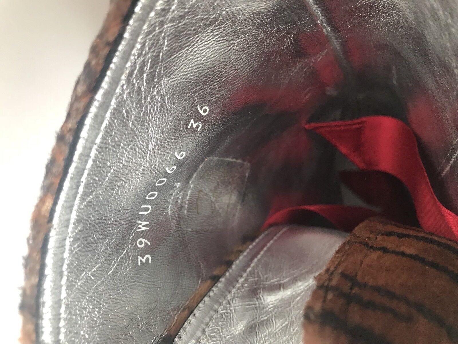 Maison Margiela Margiela Maison FW16 Puntera Alta Top botas Zapatos De Impresión Tigre David Bowie Nuevo en Caja 215bf8