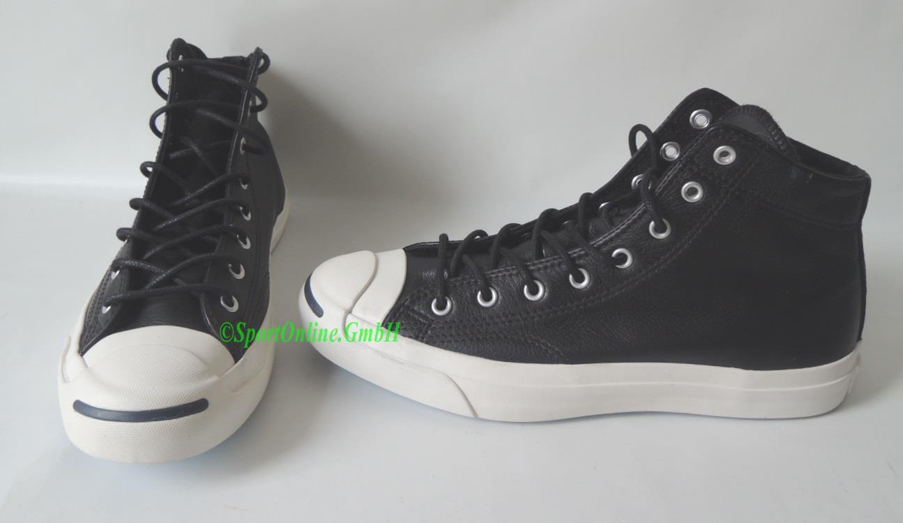 NEU Schuhe Converse JP Jack Mid Gr. 42,5 Leder Sneaker Chucks Jack Purcell BLACK