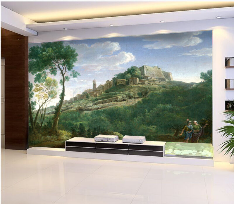 3D Castle Forest Oil Painting 2 Wall Paper Wall Print Decal Wall AJ WALLPAPER CA