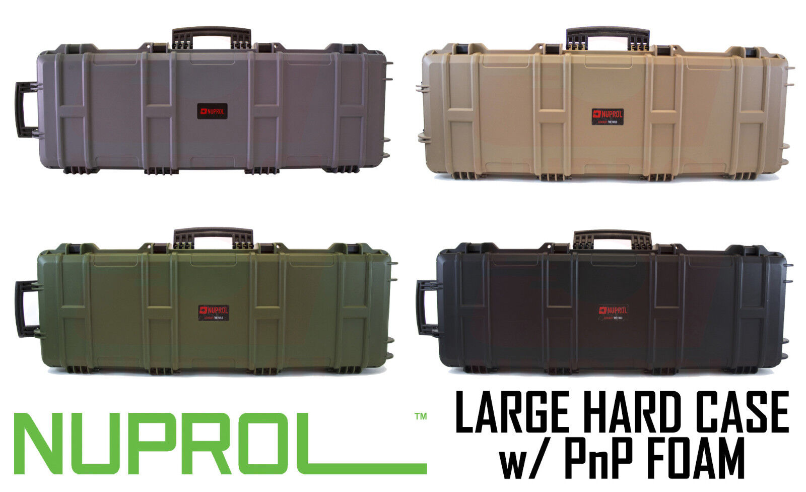 Numrol Large Hard Case PnP Foam Airsoft Paintball Rifle Storage Free UK Postage
