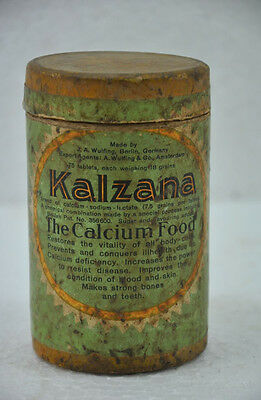 Obliging Vintage Kalzana Calcium Food Ad Litho Paper Box With Glass Bottle Decorative Collectibles Other Decorative Collectibles Germany