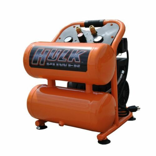 EMAX Silent Air Portable Compressor Hulk by EMAX 1.5hp 4 Gal HP15P004SS
