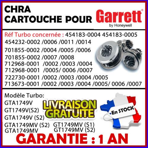 CHRA Turbo cartridge Beetle Sharan 1.9 TDI 115 CV 454232 701855 GT1749V GT1749MV
