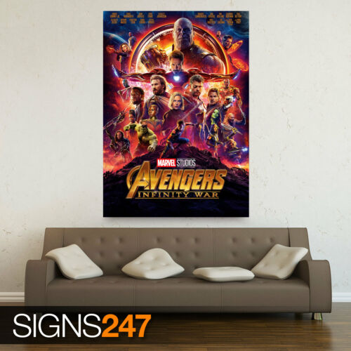 MOVIE POSTER MARVEL AVENGERS INFINITY WAR ZZ008 Poster Print Art A1 A2 A3