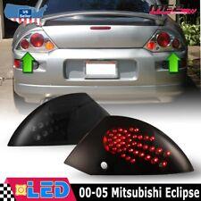Fits 00 05 Mitsubishi Eclipse Pair Led Brake Tail Lights Black Smoke Lens Set Fits 2002 Mitsubishi Eclipse