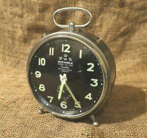 Alarm Clock Wehrle three in one (صنع فى المانيا) Rare Condition Alarm Clock #79