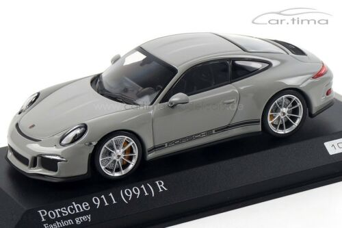 1:43 MINICHAMPS 2016 PORSCHE 911 991 R fashion grey car.tima EXCLUSIVE LE 200 pc