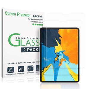 iPad-Pro-11-034-2018-amFilm-Premium-Tempered-Glass-Screen-Protector-2-Pack
