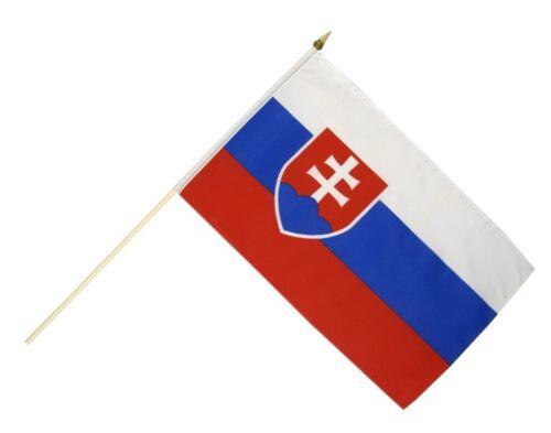Slowakei Stockflagge Flaggen Fahnen Stockfahne 30x45cm