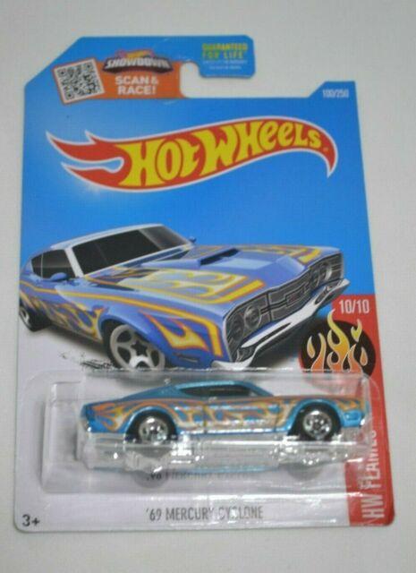 2016 Hot Wheels /'69 Mercury Cyclone Blue HW Flames 5sp for sale online