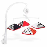 Musical Infant Stimulation - Black, White & Red Mobile, New, Free Shipping on sale