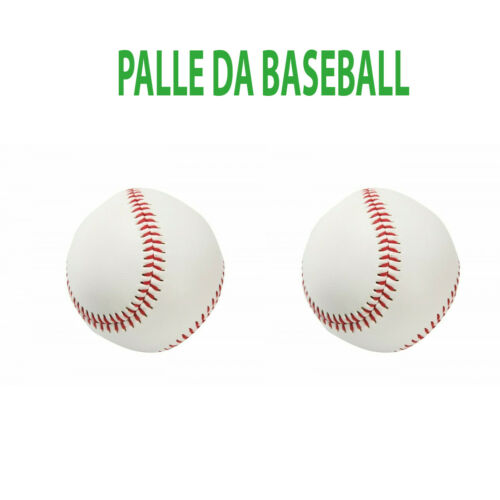 2 PALLE DA BASEBALL CUOIO CUCITO COPPIA PALLINE PALLA BALL REGOLAMENTARI SPORT