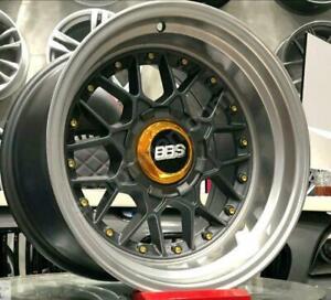 BBS-RS2-optik16-Zoll-4x100-4-x108-vorne-9-hinten-10-Neu-nachbau-Felgen