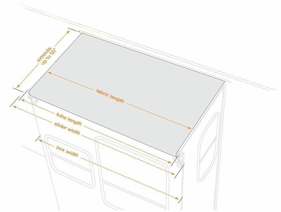 Lippert RV Solera Awning 12 Slider White V000139496