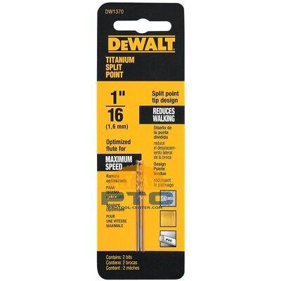 DEWALT DW1204 1//16-Inch Cobalt Split Point Twist Drill Bit