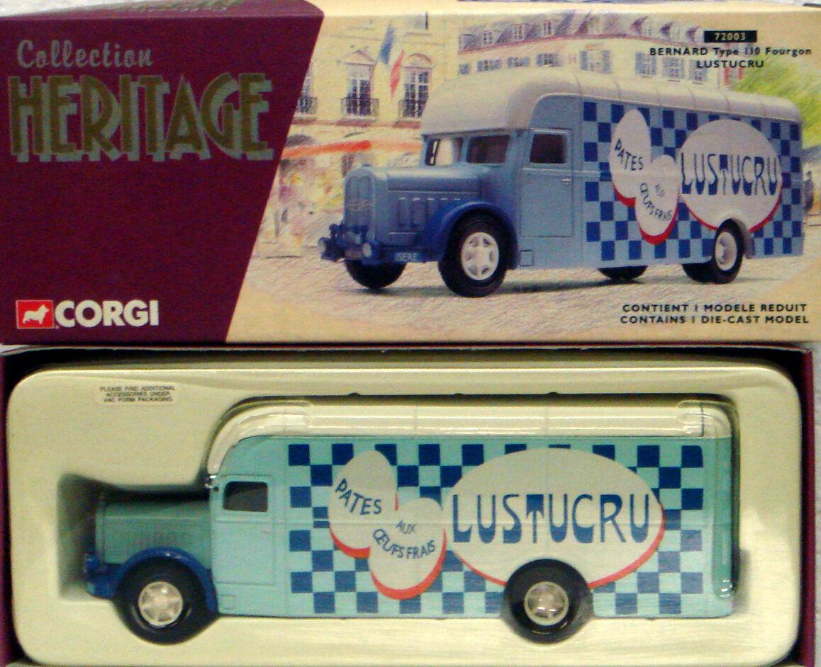 CORGI 72003 1 50 FRENCH HERITAGE Bernard Type 110 Fourgon - Lustucru