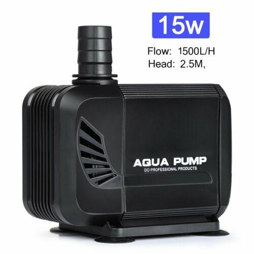 1500L//H 15W Teichpumpe Bachlaufpumpe Aquarium Tauchpumpe Wasserpumpe Teichfilter