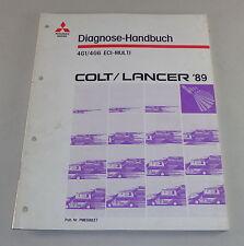 Officina Manuale Mitsubishi Colt/Lancer DIAGNOSI MOTORE 4g1 4g6 ECI multi - 1989
