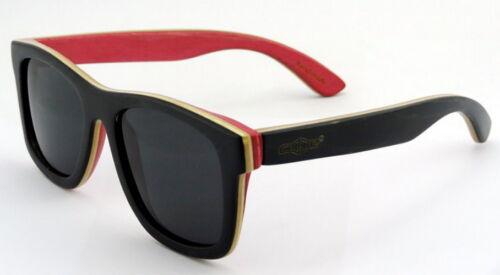 Legno Designer Occhiali Da Sole Occhiali Legno Skateboard Unisex Occhiali in LEGNO rosso nero
