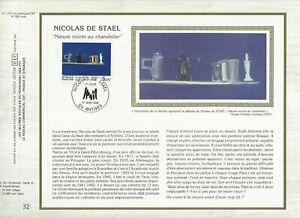 Foglio-CEF-1er-Giorno-Sul-Seta-Francia-Nicolas-Di-Stael-1985