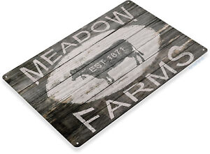TIN-SIGN-B441-Meadow-Farms-Farm-House-Ranch-Cows-Rustic-Farm-Sign-Decor