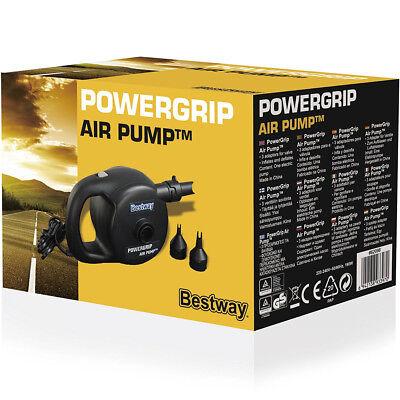 Bestway Electric Inflatable Air Pump Powergrip Inflate Deflate Airbed Pool Spa