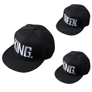 078043846bf Image is loading Adjustable-Unisex-King-Queen-Letter-Hat-Baseball-Cap-