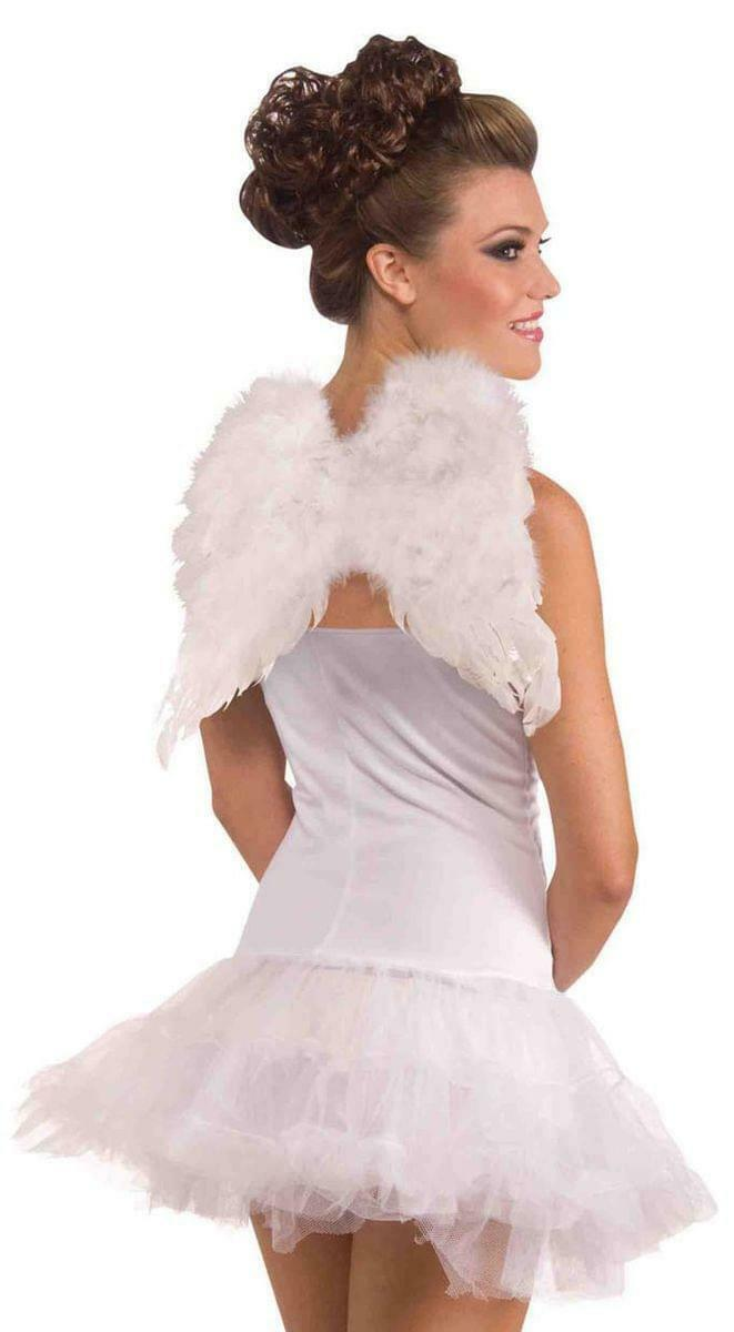 White Costume Feather Angel Wings One Size